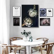 rindfleisch schnitte wein guide poster artischocken essen trinken küche wand kunstdruck leinwand malerei moderne bild esszimmer dekoration