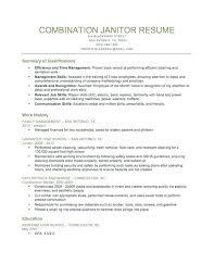 Janitorial Sample Resume Skills