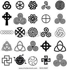 Set Of Celtic Symbols Icons Vector Tattoo Design