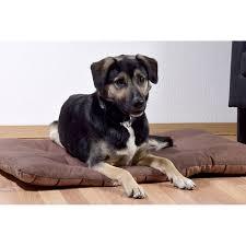 dobar hundebett mit dunkelbraunem karomuster großer schlafplatz für hunde und katzen