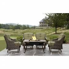 Sears Lazy Boy Patio Furniture by La Z Boy Outdoor Peyton 5pc Firepit Chat Set Shop Your Way