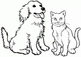Dog And Cat Coloring Pages Getcoloringpages With Regard To
