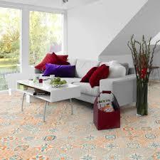 tarkett starfloor click 30 retro orange blue designbelag
