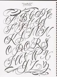 For Fancy Cursive Fonts Alphabet For Tattoos
