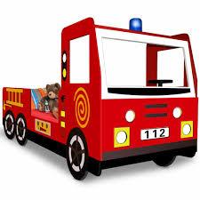 100 Kids Fire Truck Bed Single Child Car Bed Frame Boys Junior Bed Design