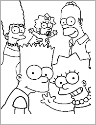 Simpsons Family Coloring Pages For Kids Printable Free