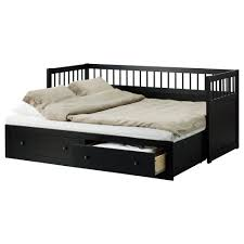 Awesome Wooden Painted Black Best IKEA Daybed With Trundle With