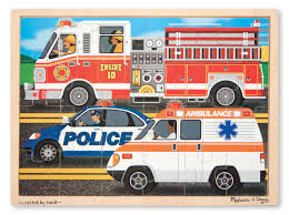 Melissa & Doug To The Rescue! Wooden Jigsaw Puzzle - Rescue Vehicles ... Melissa And Doug Baby Toys Plush Dillards Mickey Mouse Friends Wooden Fire Truck From Djeco Puzzle The Dj07269 Crafts4kidscouk Giant Floor 24 Jumbo Pieces New 4 Bubble Room Disney At Walmart Indoor Playhouse Ytown Mickey Mouse Clubhouse Car Carrier Play Set W Buy Emergency Vehicle Online Toy Universe