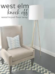 West Elm Scoop Back Chair Assembly by West Elm Inspired Tripod Floor Lamp Knock Off Decor Series