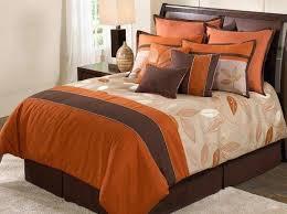 Burnt Orange forter Sets beauteous orange brown forter set