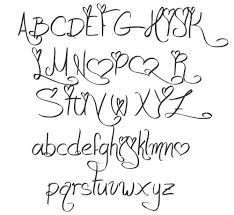 Different Font Styles Alphabet Love and Passion characters