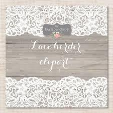 Lace Border Rustic Wedding Invitation Frame