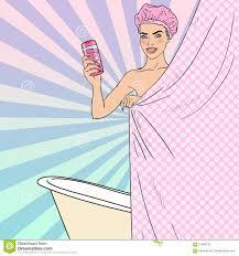 schönheit im badezimmer mit duschgel zutreffen des