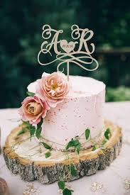 Wedding Cake Topper Initials Personalized