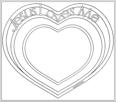 Jesus Valentine Coloring Pages Heart Love Me Page Year Old Loves Large Size
