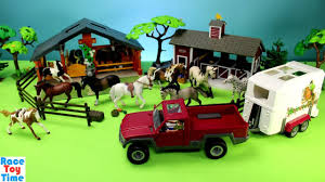 Horse Trailer Schleich And Farm Animals Barn Stable Playset - Build ... 1970s Tonka Truck And Horse Trailer Trailers Toy Prime Mover Matchbox Scammell Mechanical 3wheels No Boley Toys Farm With Barn Animals Two Farmers Big Country Sundowner Cattle Loading Up Breyer Mini Whinnies Horses In Ves Adventure Vehicle Review Home Load Trail Trailers Largest Dealer Auto Trader Euro Truck With Trailer Thewoodenhorseeu The Wooden Saddle Pals Off Roader And 3800 Hamleys For Breyer Traditional Series Horse Trailer Horseland 150 Mercedesbenz Transporter