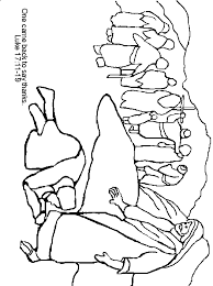 Ten Lepers Coloring Page