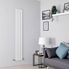 design heizkörper delta vertikal weiß 1600mm x 280mm einlagig 588 watt