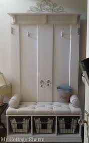 My Cottage Charm How To Build A Coat Rack Bench From Old Doors