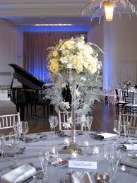 Tall Silver Candelabra Arrangements