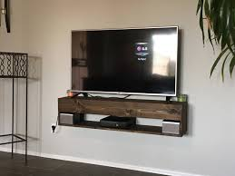 TV Console Rustic Floating Entertainment Center