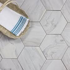 Faux Marble Hexagon Floor Tile by Hexagonal Tile You U0027ll Love Wayfair