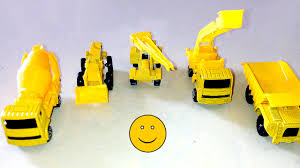Construction Toy Trucks,Dumper,Cherry Picker,Cement Mixer,Tractor ...