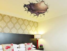 3d Cracked Wall Decal Sticker Living Room Bedroom Ceiling Decor Poster Art Mural Transparent Cave Applique Home Tattoo Decals