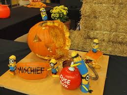 Minion Pumpkin Carvings by Mojo Pumpkin Carvings On Display At Ackerman