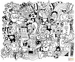 Click The Doodle Mash Up Coloring Pages