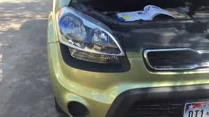 how to replace a headlight or blinker kia soul 2012