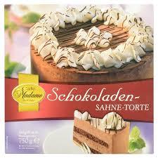 café madame schokoladen sahne torte 750 g tiefgefroren