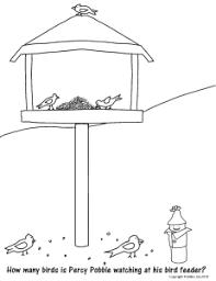Feeding Birds Color Sheet