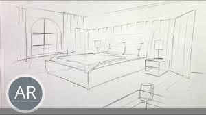 1 2 räume schnell und einfach zwei punkt perspektive zeichnen interior design skizzen
