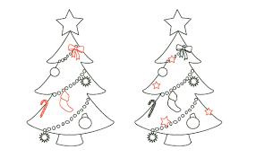 Cartoon Christmas Tree Ornaments
