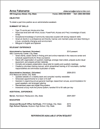 Administrative Assistant Sample Resume Volunteer Examples