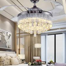 Retractable Blade Ceiling Fan With Light by 2017 36 Inch 42 Inch Led Ceiling Fans Light 110 240v Invisible