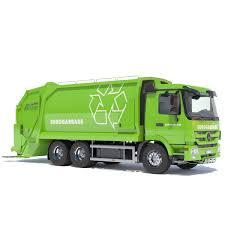 100 Truck Model New Mercedes Actros Garbage 3D Model CGTrader