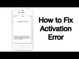 Activation Error Fix iPhone iPod iPad 10 6 2013