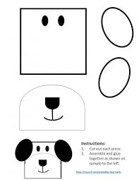 Template For Dog Made From A Square And Ovals On This Pattern You Can