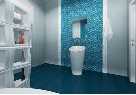 bathroom wall and floor decoration floral tile designs in white