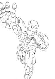 Free Iron Man Coloring Pages For Boys