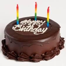 Two Layer Happy Birthday Chocolate Cake