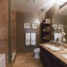 Paint Color For Bathroom With Brown Tile by 51 Best Small Bathroom Ideas Images On Pinterest Bath Ideas