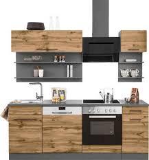 held möbel küchenzeile tulsa mit e geräten breite 210 cm schwarze metallgriffe hochwertige mdf fronten