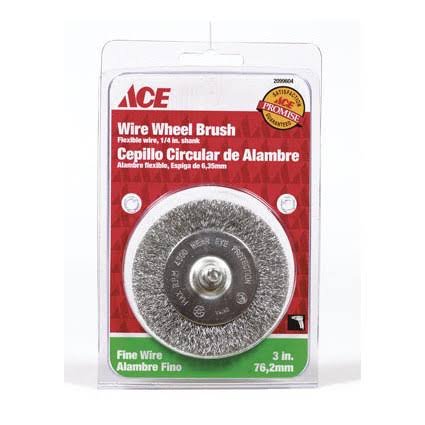 Ace Fine Crimped Wire Wheel Brush - 3""
