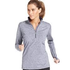 nike element longsleeve drifit half zip pullover in gray lyst