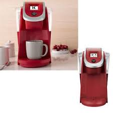 A Keurig Coffee Maker Pot Single Serve Programmable 20 K250 Red Color