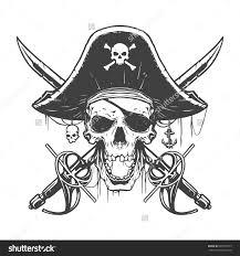Ecu Pirate Pumpkin Stencil by Skull Pirate Illustration Vectores Pinterest Pirate