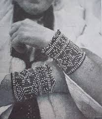 Coloured Beaded Bracelets And Tattoos From The Region Of Bihac Crosses Are Generally Situated